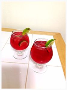 Cranberry Gin and Tonic?!  What?!  So delicious, I want one right now!  Easy to do, and just a few ingredients, you gotta try this!