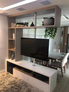 Tv Shelf Design, Tv Rack Design, Design Stand, Tv Stand Designs, Living Room Partition Design, Living Room Divider, Room Partition Designs, Living Room Tv Unit Designs, Tv Stand Room Divider