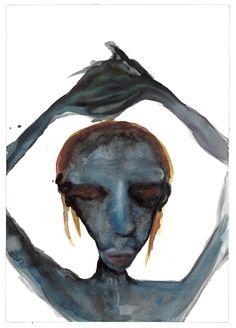 Self Portrait, Grey Series Painting by Marilyn Manson Arte Marilyn Manson, Marilyn Manson Paintings, Brian Warner, Cartoon Art Styles, Linkin Park, Golden Age Of Hollywood, Watercolor Portraits, Henri Matisse, Dark Art