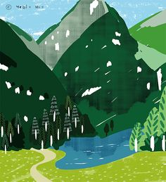 Switzerland,travel, traveling, trip, tour, journey,black,illustration,illust,illustrator,green,nature