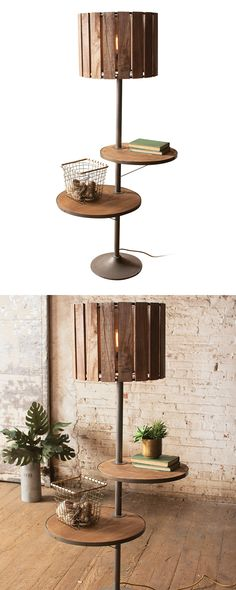 The Gansu Two-Shelf Floor Lamp is far from your average fixture. With two handy…