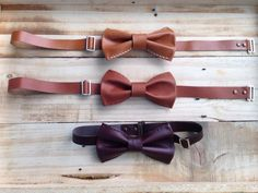 Leather Bow Tie by ChuenChom on Etsy