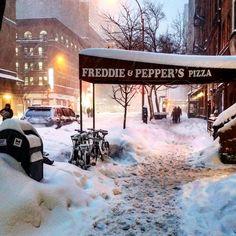 Blizzard of 2016. Amsterdam Avenue & West 74th Street.  #nycblizzard #pizza #snowstorm #streetsofnewyork #pizzapub #upperwestside #jonas #upperwest #amsterdamavenue #uws #blizzard #citystreets #snowmaggedon #urbanliving #snowpocalypse #nycatnight #nycwinter #nycstreets #snowzilla #urbanlife #blizzard2016 #manhattan #ilovenyc by cookxnyc