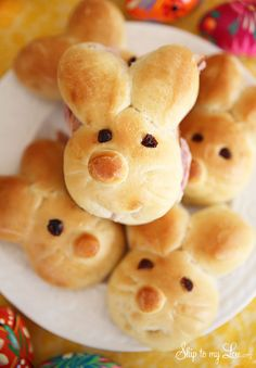 These Bunny Rolls will make your Easter dinner extra special. They are great as is or if you are going for a more casual meal slice them open for the cutest sandwiches ever! For more bread recipes try my no knead bread or my bread in a bag recipe, it's perfect to make with kids. First make some dough. I used this versatile bread dough recipe. Bread Dough Recipe 1...