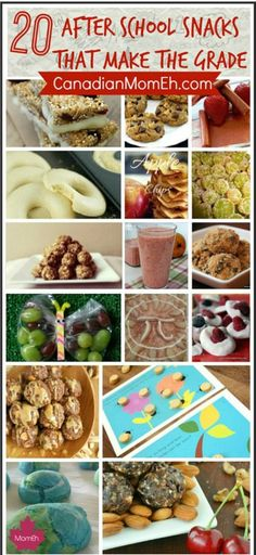 Healthy, quick and easy after school snack ideas