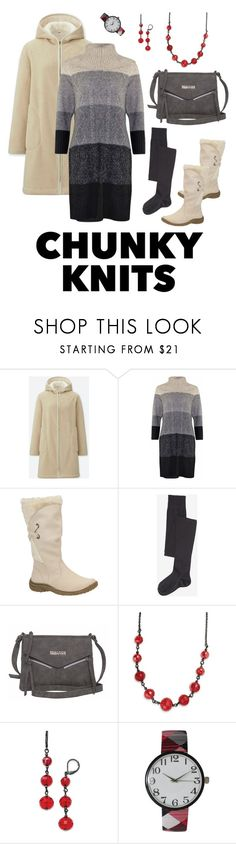 """""""Get Cozy: Chunky Knits"""" by miriam-witte ❤ liked on Polyvore featuring Uniqlo, Falke, Kenneth Cole, 1928 and Olivia Pratt"""