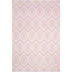 geometric carpet in pink -