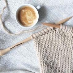 Gotta love beige stockinette stitch on We Are Knitters needles
