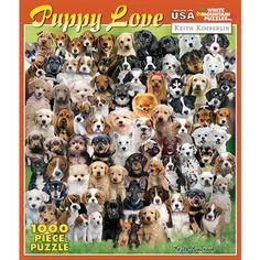 Ravensburger Dogs Galore Jigsaw Puzzle - Dogs Galore is a mix of some of the cutest puppies we've seen. From Goldens to Shepherds, and Dalmations to Huskies this puzzle is sure to please the dog lover in your life. Ravensburger Puzzle, Cute Puppies, Dogs And Puppies, Doggies, Small Puppies, 300 Piece Puzzles, Puzzle Shop, Puppy Breeds, Cool Artwork