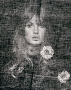 Portrait by David Bailey, 1969, Jean Shrimpton, bromide print.