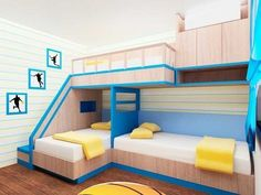 Bedroom Ideas: Triple bunk bed plans free perfect bunk beds with ...