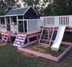 As my design ideas for my new house are going into overdrive my mind is also tur. As my design ideas for my new house are going into overdrive my mind is also turning to create the perfect backyard retr. Kids Backyard Playground, Backyard Playset, Backyard Playhouse, Build A Playhouse, Backyard Retreat, Backyard For Kids, Girls Playhouse, Playhouse Ideas, Playground Ideas