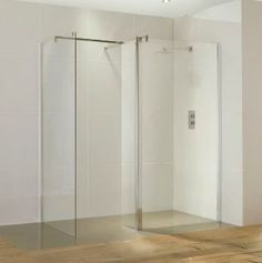 Aquaglass Walk In Shower Enclosure 6mm Glass 1100mm -£338 Contents Front panel, 300mm return panel with 900mm stabilising bar Power shower suitable Wetroom compatible Top cover caps Aquashield Concealed fittings Quick release door system Enclosure height 1950mm adjustment 10mm 6mm glass Side panels available in 4 sizes Free shower cleaning kit Lifetime guarantee The fixed panels are made from toughened safety glass for strength and du…