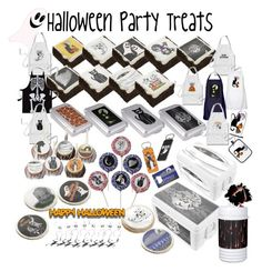 """""""Halloween Party Treats"""" by gravityx9 ❤ liked on Polyvore featuring interior, interiors, interior design, home, home decor, interior decorating, Halloween and Halloweenparty"""
