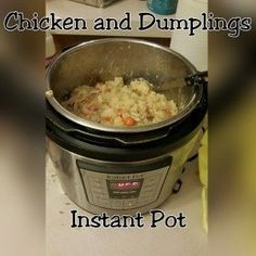 Homemade Chicken and Dumplings in 20 minutes- Instant Pot