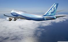 Boing 747-8 Intercontinental para el transporte de pasajeros.