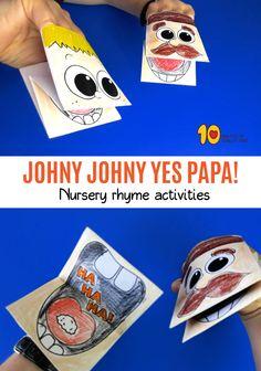 Johny johny yes papa paper hand puppets