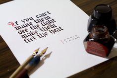 Calligraphy piece by Piotr Łukaszkiewicz