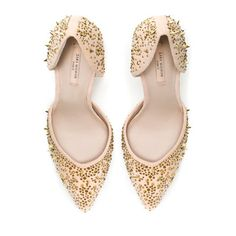 VAMP SHOE WITH STUDDED HEEL - Shoes - Woman | ZARA United States
