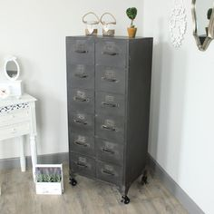 etal 12 Drawer Storage Cabinet Metal 12 Drawer Storage Cabinet An industrial style chest of drawers Featuring 12 small drawers Would be perfect as garden shed storage or even in your home! £306.95 from www.melodymaison.co.uk