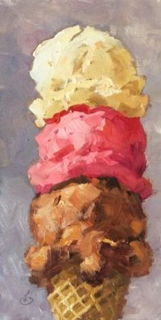 ICE CREAM BY TOM BROWN. Delicious collor and tasty brush strokes combine for a refreshing painting!! SEE MORE ART NOW www.richard-neuman-artist.com