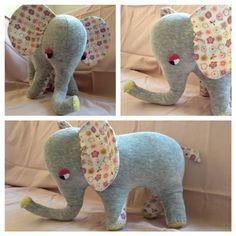 Bye bye sweetheart! DIY Elephant for a dear friends newborn girl.