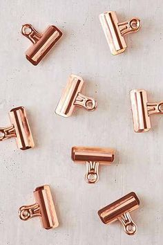 copper clips - use to hang pictures from the year
