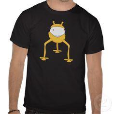 Yellow One-Eyed Goofy Alien Tshirts
