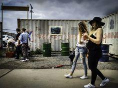 https://flic.kr/p/tMKSiY   Women, Container, Oil barrels   Berlin, Friedrichshain