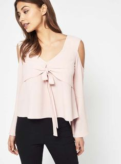 Pinterest Pretty Outfits, Pretty Clothes, Cold Shoulder, Shoulder Tops, Front Tie Top, Miss Selfridge, Asos, Style Inspiration, Collection
