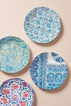 Slide View: Tula Melamine Set of Plates Dinner Plate Sets, Dinner Sets, Dinner Plates, Ceramic Plates, Ceramic Pottery, Ceramic Painting, Ceramic Art, Cool Kitchen Gadgets, Plate Art