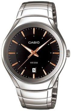 Casio Men's MTP1325D-1AV Silver Stainless-Steel Quartz Watch with Black Dial Casio. $36.87