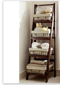@Influenster #Ivory2in1Power A Benchwright Ladder Floor Storage is a great bathroom furniture piece to help with organization with towels and other bathroom accessories