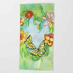 Spring Heart Beach Towel