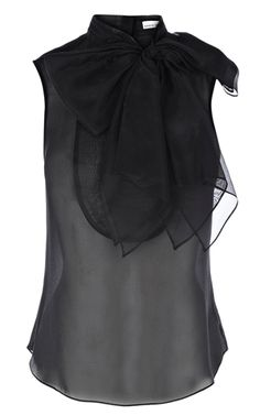 Karen Millen - Organza blouse with bow