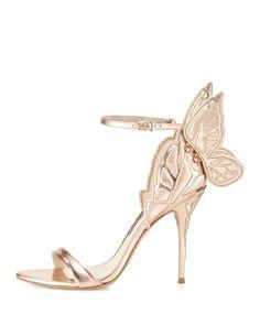 7799f8f510b Sophia Webster Chiara Butterfly Wing Ankle-Wrap Sandal Ankle Strap High  Heels