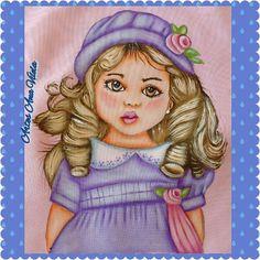 Artes Ana Vilela : Pintura em tecido, menina