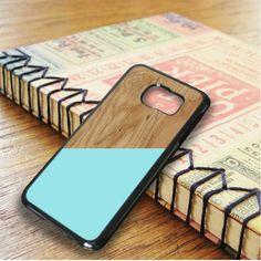 Wood Texture Blue Mint Samsung Galaxy S6 Edge Plus Case