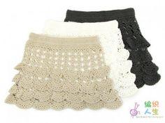 Crochetemoda: Saia em Crochet