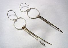 Sterling Silver Earrings - Long and Swingy. $24.00, via Etsy.