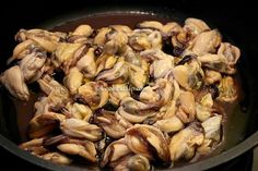 Μύδια σαγανάκι, Θεσσαλονίκης ⋆ Cook Eat Up! Shrimp, Seafood, Food And Drink, Cheese, Chicken, Meat, Sea Food, Cubs, Seafood Dishes