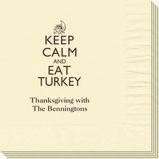 Keep Calm and Eat Turkey Napkins #StationeryStudio