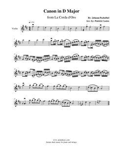 La Corda D'Oro: Canon in D Major for Violin