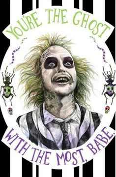 Beetlejuice: You're the ghost with the most, babe Arte Horror, Horror Art, Horror Movies, Horror Room, Tim Burton Kunst, Tim Burton Art, Burton Burton, Beetlejuice Tattoo, Beetlejuice