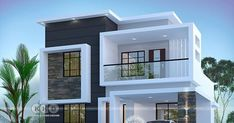 ft modern home design 3 bedroom beautiful cute modern contemporary house plan in an area of 1800 square feet by Dream Form from Kerala. Modern Small House Design, Modern Exterior House Designs, Modern Contemporary Homes, Small Modern House Plans, Contemporary Architecture, Modern Bungalow Exterior, Modern House Facades, Home Modern, Modern Design