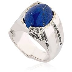 Federico Primiceri Men Man Lapis Lazuli Ring ($1,545) ❤ liked on Polyvore featuring men's fashion, men's jewelry, men's rings, mens rings, lapis lazuli mens ring and mens watches jewelry
