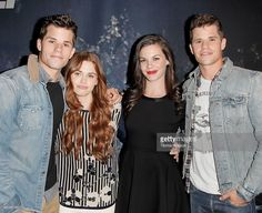Max Carver, Holland Roden, Haley Webb and Charlie Carver attends the MTV's 'Teen Wolf' fan appreciation event at Burbank Airport Marriott on November 23, 2013 in Burbank, California.