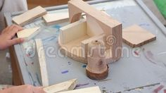 Video about Carpentry workshop for children supervised by tutor - pieces of wood for built. Video of crafted, handmade, board - 77795841 Carpentry, Triangle, Workshop, Abstract, Toys, Children, Handmade, Painting, Art