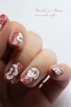 One Stroke fall flowers - One Stroke fleurs automnales By Tenshi Nail Art Designs, Creative Nail Designs, Creative Nails, Perfect Nails, Gorgeous Nails, Pretty Nails, Nails First, Nails Only, Hot Nails
