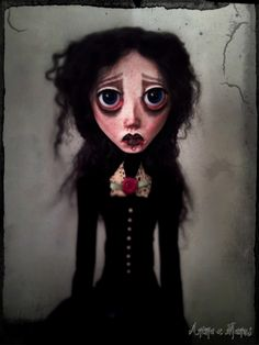 OOAK Art Doll SADEN, The Heart Eater
